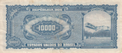 Image #2 of 10 Cruzeiros Novos on 10,000 Cruzeiros ND (1967)