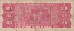 5 Cruzeiros Novos on 5000 Cruzeiros ND (1967)