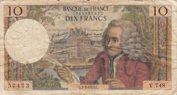 Image #1 of 10 Francs 1972 (3. II.)