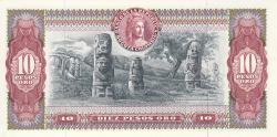 Image #2 of 10 Pesos Oro 1969 (2. I.)