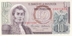 Image #1 of 10 Pesos Oro 1969 (2. I.)