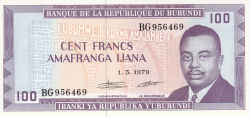 Image #1 of 100 Francs 1979 (1. V.)