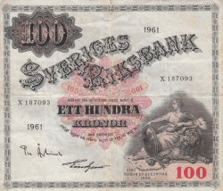 Image #1 of 100 Kronor 1961 - 2