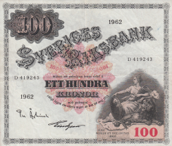 Image #1 of 100 Kronor 1962