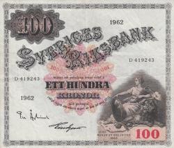 100 Kronor 1962