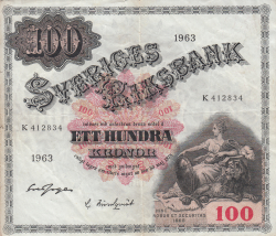 Image #1 of 100 Kronor 1963 - 2