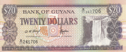 Image #1 of 20 Dollars ND (1996) - signatures Dolly Singh/ Bharrat Jagdeo