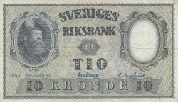 Image #1 of 10 Kronor 1953 - 3
