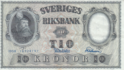 Image #1 of 10 Kronor 1958 - 3