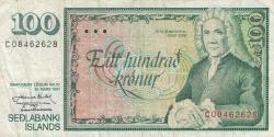 Image #1 of 100 Krónur L.1961 (1981) - signatures J. Nordal / T. Arnason