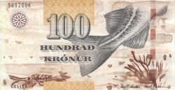 2012 P-30 UNC Faeroe Faroe Islands 100 Kronur 2011