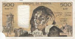 Image #1 of 500 Francs 1973 (6. XII.)