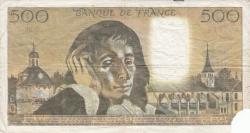 Image #2 of 500 Francs 1973 (6. XII.)