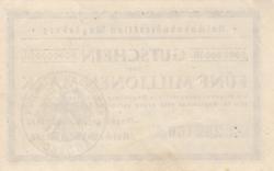 Image #2 of 5 Millionen Mark 1923 (9. VIII.)