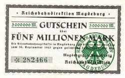 Image #1 of 5 Millionen Mark 1923 (9. VIII.)