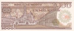 Image #2 of 1000 Pesos 1985 (19. VII.) - Serie XL