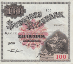 Image #1 of 100 Kronor 1956