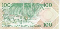 Imaginea #2 a 100 Vatu ND (1982)