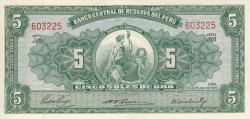 5 Soles 1956 (22. III.)