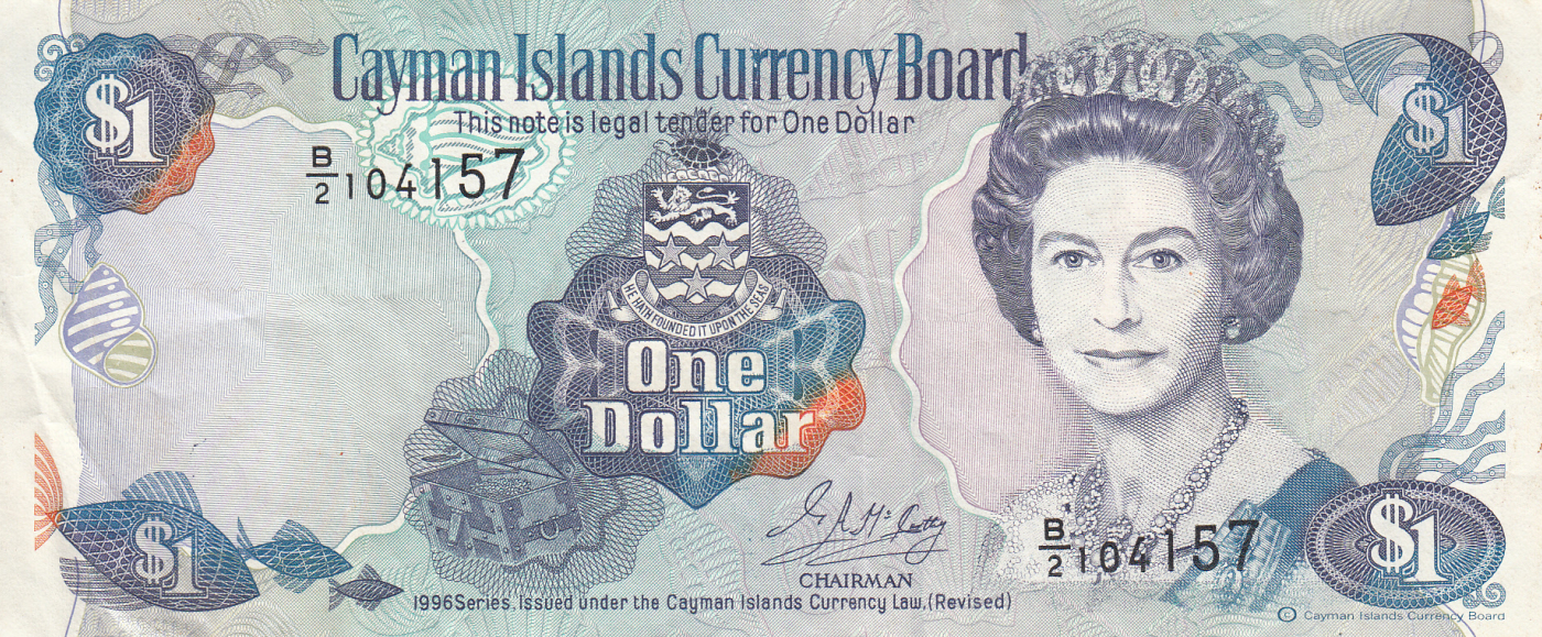 Cayman Islands 1 Dollar P-5b 1974 UNC