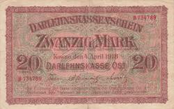 Imaginea #1 a 20 Mark 1918 (4. IV.)