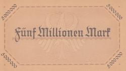 Image #2 of 5 Millionen (5 000 000) Mark, 1923 (18. VIII.) - Reihe 1