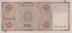 Image #2 of 25 Gulden 1939 (2. III.)