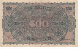 500 Mark 1922 (1. VII.) - Ser. I