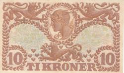 Imaginea #2 a 10 Coroane 1943 - Serie U (semnături Svendsen / Vinther)