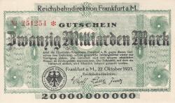 Image #1 of 20 Milliarden (20,000,000,000) Mark 1923 (22. X.) - 2