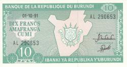 Image #1 of 10 Francs 1991 (1. X.)