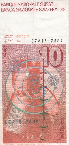 Image #2 of 10 Franken (19)87 - signatures Dr. Francois Schaller / Dr. Markus Lusser (57)