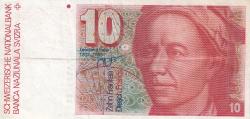 Image #1 of 10 Franken (19)87 - signatures Dr. Francois Schaller / Dr. Markus Lusser (57)