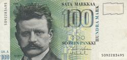 Image #1 of 100 Markkaa 1986 (1991) - signatures Holkeri / Vanhala