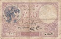Image #1 of 5 Francs 1939 (14. IX.)