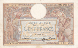 Image #1 of 100 Francs 1938 (9. VI.)