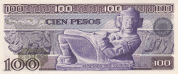 Image #2 of 100 Pesos 1978 (5. VII.) - Serie KT