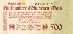 Image #1 of 500 Milliarden (500 000 000 000) Mark 1923 (26. X.)