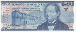 Image #1 of 50 Pesos 1976 (8. VII.) - Serie EG