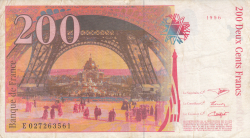 Image #2 of 200 Francs 1996
