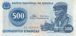 Imaginea #1 a 500 Kwanzas 1976 (11. XI.)
