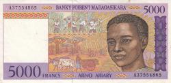 Imaginea #1 a 5000 Franci ND (1995)