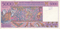 Imaginea #2 a 5000 Franci ND (1995)