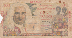 Image #1 of 1 Nouveau Franc on 100 Francs ND (1961)