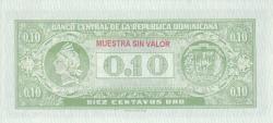 Imaginea #2 a 10 Centavos Oro ND (1961) - SPECIMEN