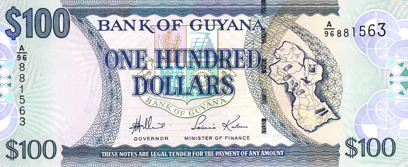 2016 ND 2006 P-36 Unc Guyana 100 Dollars
