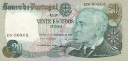 Image #1 of 20 Escudos 1978 (13. IX.) - signatures Emílio Rui da Veiga Peixoto Vilar / Vítor Manuel Ribeiro Constâncio