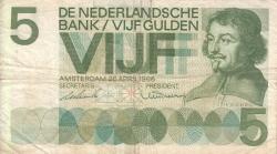 Image #1 of 5 Gulden 1966 (26. IV.)
