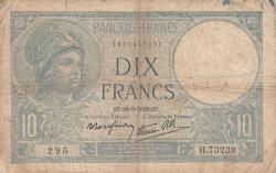 Imaginea #1 a 10 Franci 1939 (28. IX.)