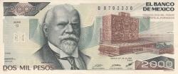 Image #1 of 2000 Pesos 1983 (26. VII.) - Serie Q